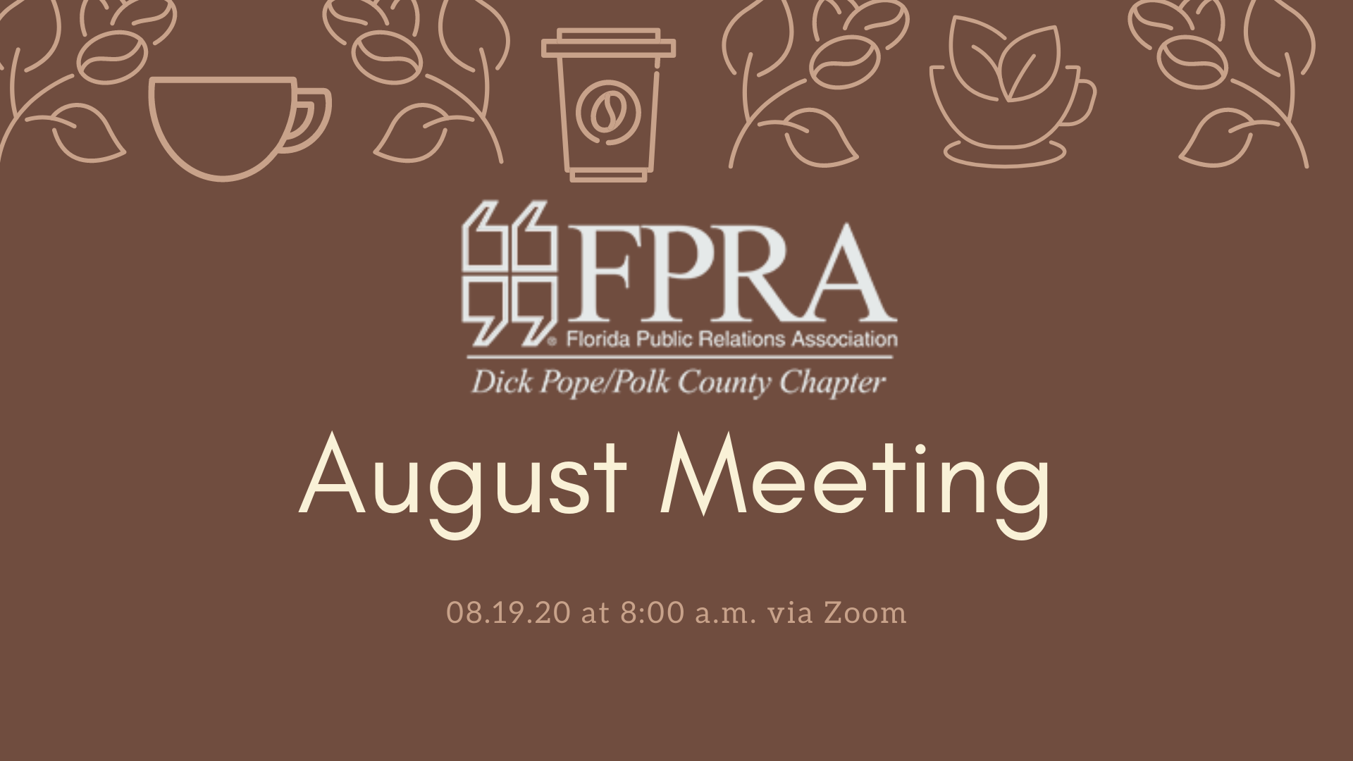 August Meeting Banner Image